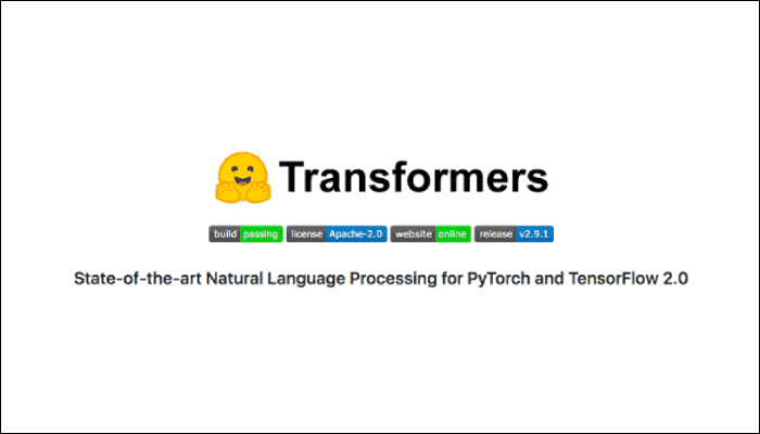 Transformers: Best NLP for Pytorch and TensorFlow 2.0