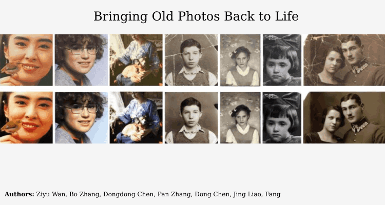deep-learning Old Photo to New Photo